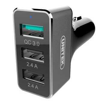 Bộ sạc xe hơi Unitek 42W YP 530C (2 USB 2.4A + USB QC 3.0)