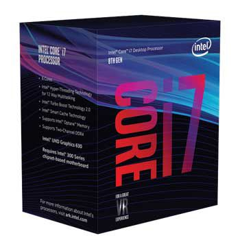 Intel Coffee lake i7 8700K(3.7GHz) Chỉ hỗ trợ Windows 10