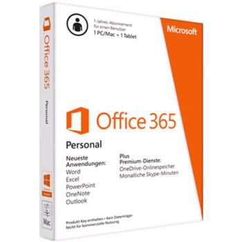 Office Personal 365 32/64bit SuBScr 1YR AP AC EM Medialess (QQ2-00570)