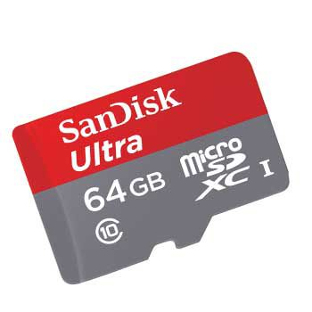 MICRO-SD 64GB SANDISK CLASS 10 (80MB)