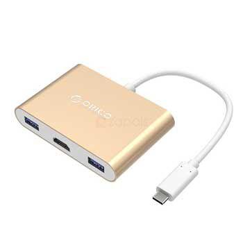 Đầu đổi Type C - HDMI +USB 3.0 + Type C Orico RCH3A-GD