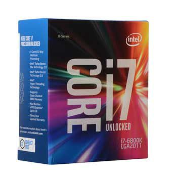 Intel Core i7 6800K(3.4GHz)