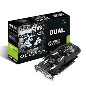 2GB ASUS DUAL-GTX1050-O2G-V2