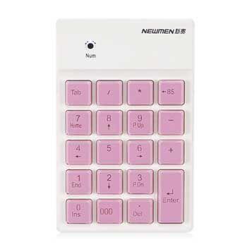 Bàn phím số Bluetooth Newmen TK-028 (hồng)