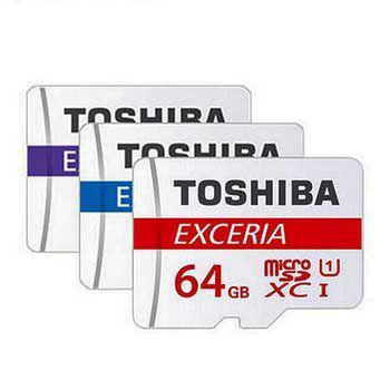 MICRO-SD 64GB TOSHIBA Retail, Class 10 THN-M302R0640A2