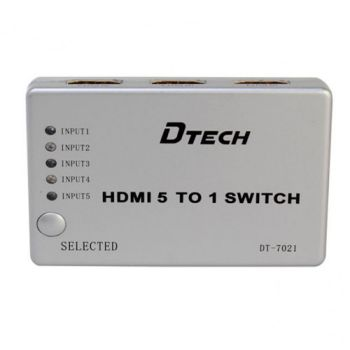 SWITCH HDMI 5-1 DTECH DT-7021