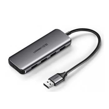 HUB USB 1–4 PORT USB 3.0 UGREEN 50768 (Có Cổng Trợ Nguồn)
