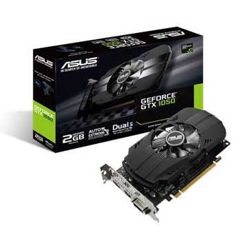 2GB ASUS PH-GTX1050-2G (1 Fan, Dual-Ball)