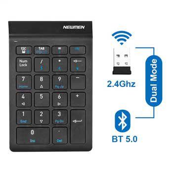 Bàn phím số không dây Dual Mode Newmen TK-029 (Bluetooth & 2.4Ghz )