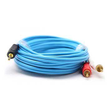 Cable LOA 1 Jack 3.5mm -> 2 RCA Dtech DT6213 (Chiều dài 5m)