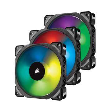 Fan case Corsair ML120 PRO RGB kèm Node PRO CO-9050076-WW ( Bộ 3 Fan)