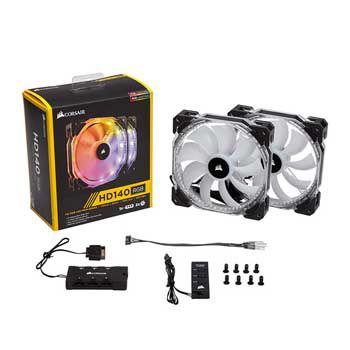 Fan case Corsair HD140 RGB LED CO-9050069-WW kèm Controller ( Bộ 2 Fan)
