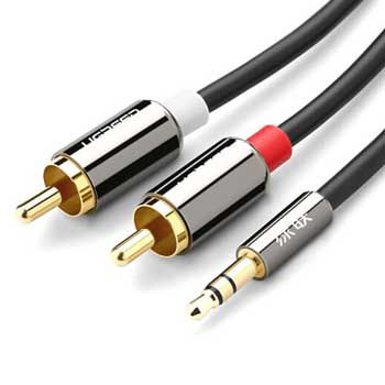 Cáp Audio 3.5mm ra 2 đầu RCA Ugreen 10591 (dài 5m)
