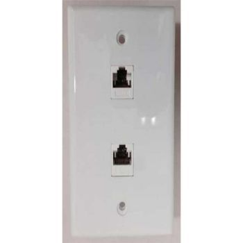 WALL PLATE 2 Port