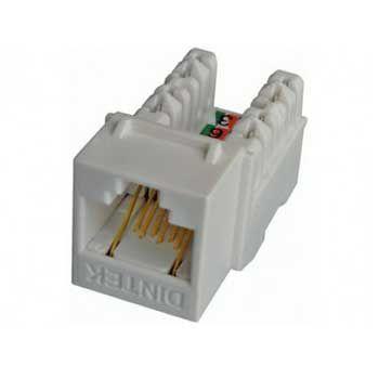 Đầu mạng âm tường DINTEK Module Jack Cat.6 dạng ngang E-Jack 1305-04017