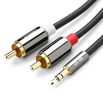 Cáp Audio 3.5mm ra 2 đầu RCA Ugreen 10583 (dài 1.5m)