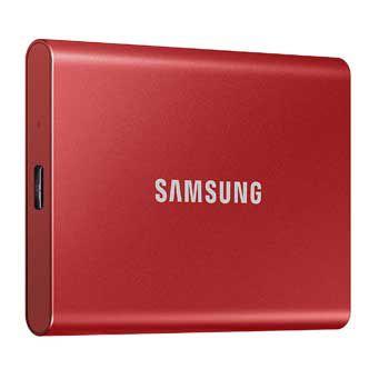1TB Samsung T7 Portable - (MU-PC1T0R - MÀU ĐỎ) - EXTERNAL
