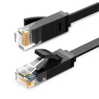 Cáp mạng Dẹt đúc sẵn Cat6 dài 0.5m Ugreen 50172 (Gigabit 26AWG)